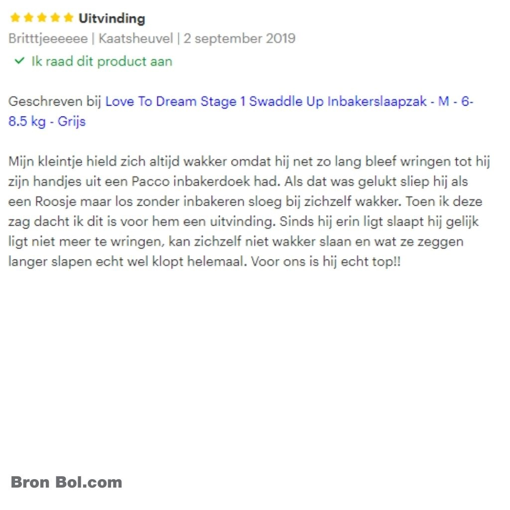Love to dream review Uitvinding